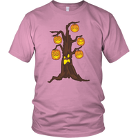 Halloween Pumpkin Tree Tee Shirt, Gifts for Candy Treat Scary Trick