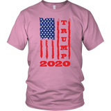 Trump 2020 USA Flag Tee Shirt, Gifts for Republicans Conservative