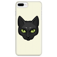 Black Cat Face Phone Case for iPhone, Gifts for Cat Lovers