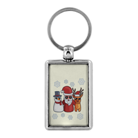 Snowman Santa Reindeer Keychain for Men Women Key Chain, Christmas Gifts for Snow Lovers