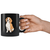 Beagle Black Coffee Mugs, Funny Gift for Cute Dog Lovers