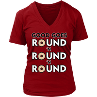 Good Goes Round Cereal VNeck Shirts for Women