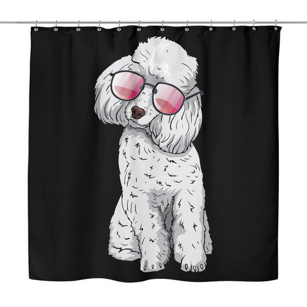 Poodle Shower Curtains, Cute Gift for Cute Dog Lovers