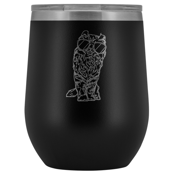 American Curl Cat Wine Tumbler, Cat Lover Gifts 9183A