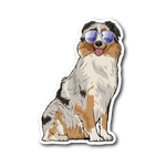 Australian Shepherd Dog Sticker for Car Bumper, Funny Dog Lover Gifts 9176A