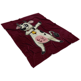 Dabbing Cow Fleece Blanket, Gifts for Farm Animal Lovers