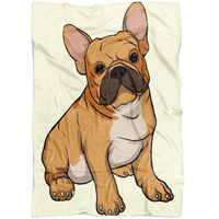French Bulldog Fleece Blanket, Funny Gift for Cute Dog Lovers