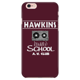 Stranger Hawkins Middle School iPhone Smart Phone Case for Women Men Kids Things A V Club