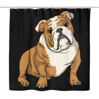 Bulldog Shower Curtains, Funny Gift for Cute Dog Lovers