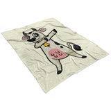 Dabbing Cow Fleece Blanket, Gifts for Farmers Farm Animal Lovers