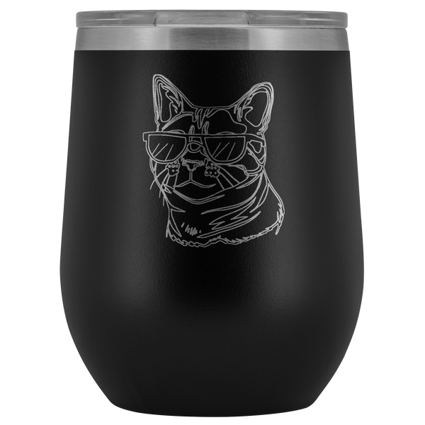 Bengal Cat Wine Tumbler, Cat Lover Gifts 9187A