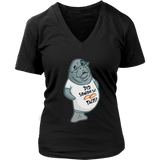Manatee Did Someone Say Tacos Commercial Novelty V Neck Shirt for Women