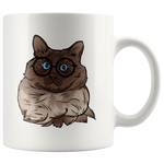 Balinese Cat White Coffee Mug 11oz, Cat Lover Gifts 9186A