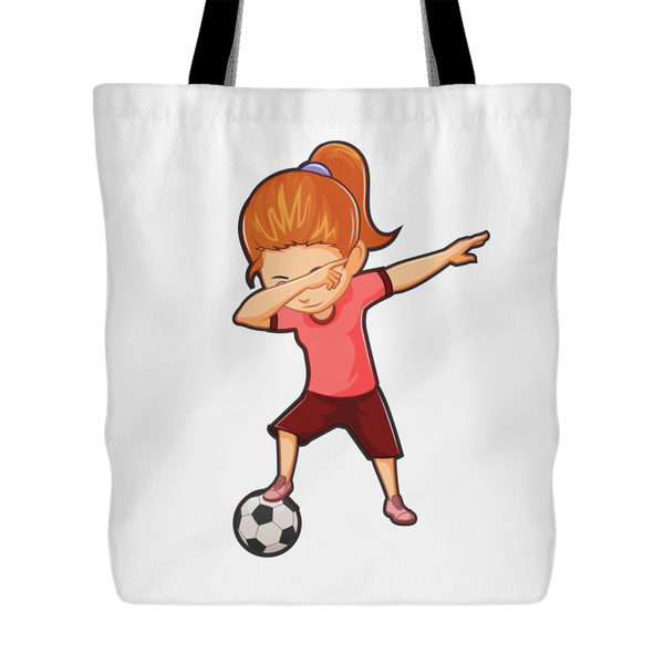 Soccer Tote Bag Funny Dabbing Dance Soccer Tote Bag for Women