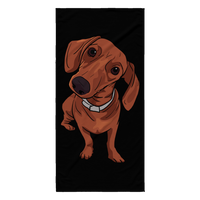 Dachshund Beach Towels, Funny Gift for Cute Dog Lovers