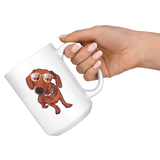 Dachshund White Coffee Mugs, Funny Gift for Cute Dog Lovers