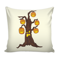 Halloween Pumpkin Tree Pillow Cover, Gifts for Candy Treat Scary Trick