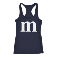 Funny M Candy Halloween Racerback Tank Top for Women
