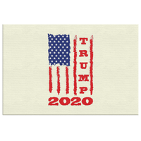 Trump 2020 USA Flag Wall Decor Canvas, Gifts for Republicans Conservative
