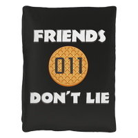 "Friends Don't Lie Stranger Waffle Eleven Pet Bed for Dogs Cats Pets 40""x 30"""