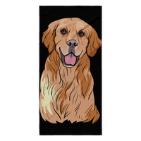 Golden Labrador Retriever Beach Towels, Cute Gift for Dog Lovers