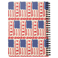 Trump 2020 USA Flag Journal Diary Spiralbound Notebook, Gifts for Republicans Conservative