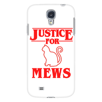 Justice for Mews Cat Smart Phone Case for Samsung Galaxy