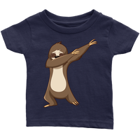 Cute Funny Dancing Sloth Infant T Shirt for Baby Boys and Baby Girls