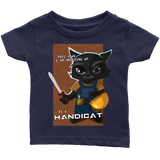 "Funny Cool ""Handicat"" Halloween Cat Baby Infant T Shirt Baby Boy Baby Girl"