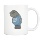 Manatee Im With Stupid Commercial Novelty Coffee Mug for Men Women