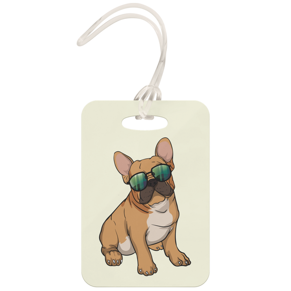 French Bulldog Sunglasses Funny Luggage Tag, Gifts for Dog Puppy Lovers