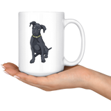 Black Labrador White Coffee Mugs, Funny Gift for Cute Dog Lovers