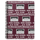 Hawkins High School Journal Diary Spiralbound Notebook, Christmas Gifts for AV Club Lovers