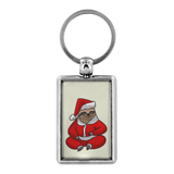 Santa Sloth Keychain for Men Women Key Chain, Christmas Gifts for Sloth Lovers