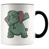 Elephant Accent Coffee Mug, Funny Dabbing Gifts for Animal Dance Lovers
