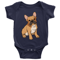French Bulldog Baby Romper Bodysuit, Funny Gift for Cute Dog Lovers