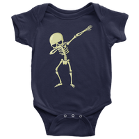 Halloween Skeleton Dabbing Baby Romper Bodysuit, Gifts for Trick Treat Skull Party
