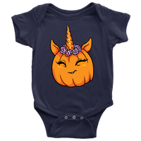Unicorn Pumpkin Halloween Baby Romper Bodysuit, Gifts for Trick Treat Costume Party