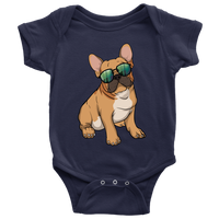 French Bulldog Baby Romper Bodysuit, Cute Gift for Cute Dog Lovers