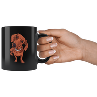 Dachshund Black Coffee Mugs, Funny Gift for Cute Dog Lovers