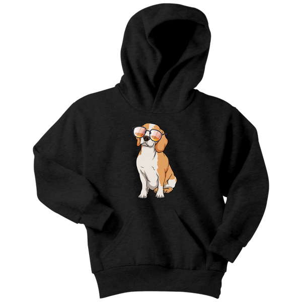 Beagle Dog Sunglasses Funny Youth Hoodie, Gifts for Dog Puppy Lovers