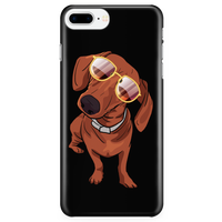 Dachshund Smart Phone Case for iPhone, Funny Gift for Cute Dog Lovers