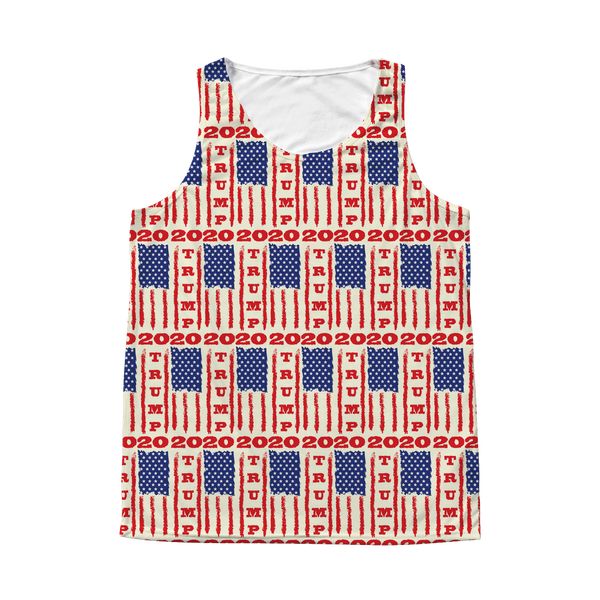 Trump 2020 USA Flag Tank, Gifts for Republicans Conservative