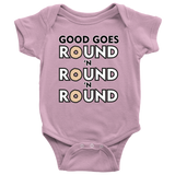 Good Goes Round Cereal Baby Romper Onesie Baby Boy Baby Girl