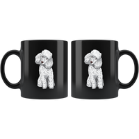 Poodle Black Coffee Mugs, Funny Gift for Cute Dog Lovers