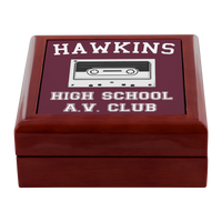Hawkins High School Jewelry Box, Christmas Gifts for AV Club Lovers