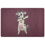 Dabbing Cow Door Mat, Gifts for Farm Animal Lovers