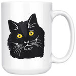 Bombay Cat White Coffee Mug 15oz, Cat Lover Gifts 9189A