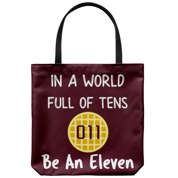World Full of Tens Tote Reusable Grocery Bag, Be an Eleven