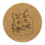 Bombay Cat Cork Coaster, Cat Lover Gifts 9189A
